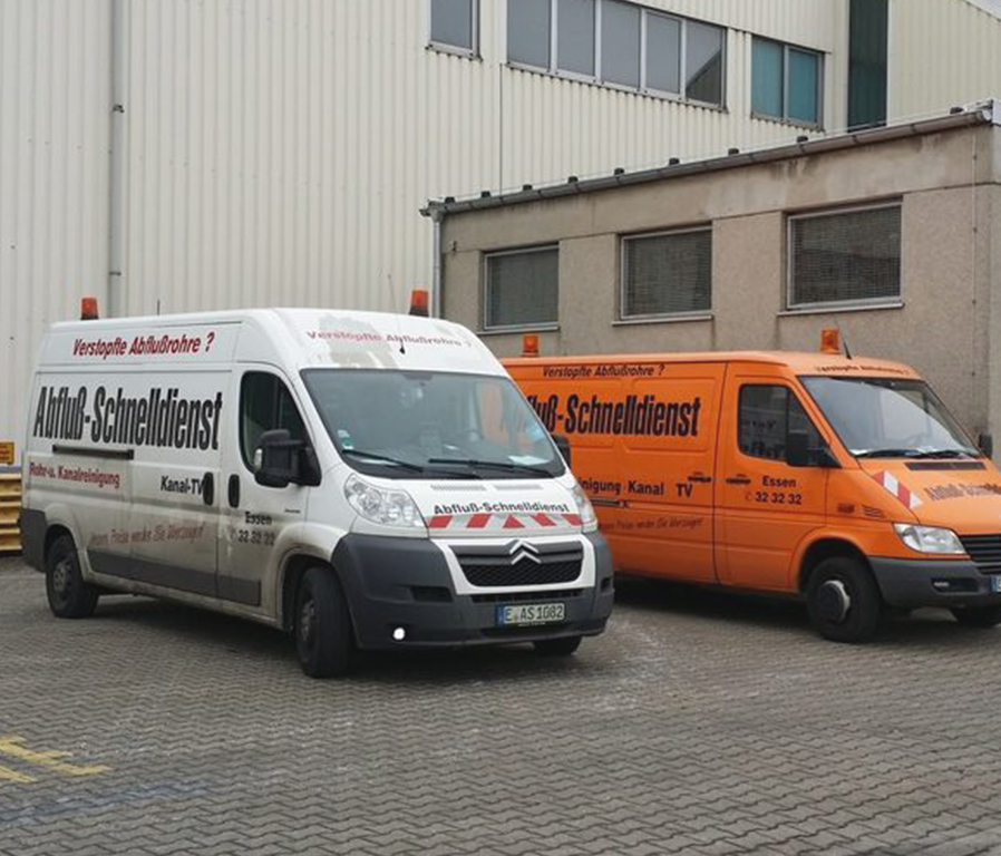 Fahrzeuge Abfluß Schnelldienst Gladbeck UG.